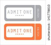 movie ticket | Shutterstock .eps vector #141778810