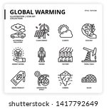 global warming icon set for web ... | Shutterstock .eps vector #1417792649