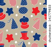 seamless pattern for 4th of... | Shutterstock .eps vector #141779833