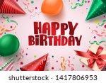 happy birthday text vector... | Shutterstock .eps vector #1417806953