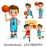 kids character playing... | Shutterstock .eps vector #1417806959