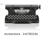 old typewriter illustration... | Shutterstock . vector #141782236