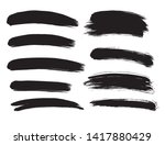 brush lines set. vector... | Shutterstock .eps vector #1417880429