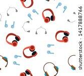 Headphones Icon Seamless...