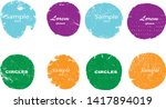 grunge post stamps collection ... | Shutterstock .eps vector #1417894019