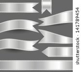 set of silver ribbons | Shutterstock .eps vector #141789454