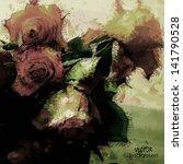 Art Floral Vintage Colorful...