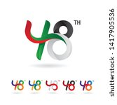 48 number with ribbon concept ... | Shutterstock .eps vector #1417905536