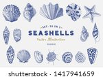 set seashells. vector... | Shutterstock .eps vector #1417941659