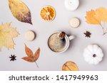 autumn flat creative...   Shutterstock . vector #1417949963