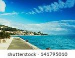 cute resort town on the... | Shutterstock . vector #141795010