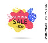 summer sale banner design with... | Shutterstock .eps vector #1417971239