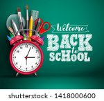 back to school vector banner... | Shutterstock .eps vector #1418000600