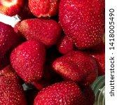 macro photo of strawberry berry ... | Shutterstock . vector #1418005490