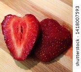 macro photo of strawberry berry ... | Shutterstock . vector #1418007593