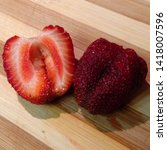 macro photo of strawberry berry ... | Shutterstock . vector #1418007596
