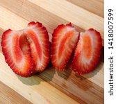 macro photo of strawberry berry ... | Shutterstock . vector #1418007599