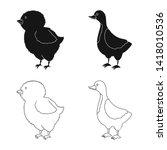 vector design of breeding and... | Shutterstock .eps vector #1418010536