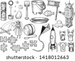 toy collection illustration ...   Shutterstock .eps vector #1418012663