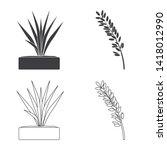 vector illustration of crop and ... | Shutterstock .eps vector #1418012990