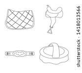 isolated object of horseback... | Shutterstock .eps vector #1418013566