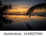 Sunset Beach Reflection Swimming Pool - Fine Art prints