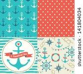 Vector Set Of Four Nautical...
