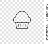 muffin icon from food... | Shutterstock .eps vector #1418044049