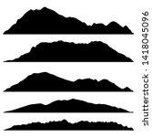 set of black mountains... | Shutterstock .eps vector #1418045096