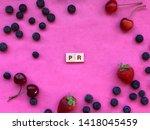 pr   public relations  written... | Shutterstock . vector #1418045459