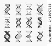 dna. helix cell gene structure...   Shutterstock . vector #1418047193