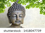 3d buddha with green leaves  ... | Shutterstock . vector #1418047739