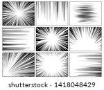 radial comics lines. comic book ... | Shutterstock . vector #1418048429