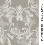 baroque texture pattern vector. ... | Shutterstock .eps vector #1418052440