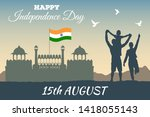 concept banner of 15th august... | Shutterstock .eps vector #1418055143