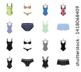 isolated object of bikini and...   Shutterstock .eps vector #1418068409