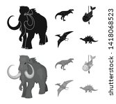 vector design of animal and... | Shutterstock .eps vector #1418068523