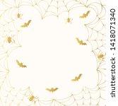 halloween spooky golden...   Shutterstock .eps vector #1418071340