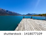 Lake Wakatipu With Pier   Jett...