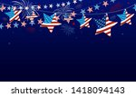 4th of july usa independence... | Shutterstock .eps vector #1418094143