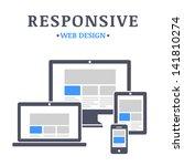 responsive web design on... | Shutterstock .eps vector #141810274