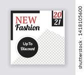 social media banner template....   Shutterstock .eps vector #1418105600