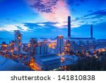 coal power station and cement... | Shutterstock . vector #141810838