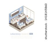 laboratory research isometric... | Shutterstock .eps vector #1418145860