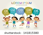 cute childrens labels. stylish... | Shutterstock .eps vector #141815380