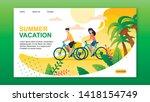 landing page presenting summer... | Shutterstock .eps vector #1418154749