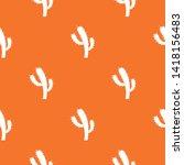 cactus pattern vector orange...   Shutterstock .eps vector #1418156483