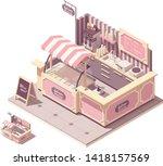 vector isometric ice cream... | Shutterstock .eps vector #1418157569