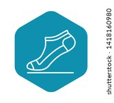 small sock icon. outline small...   Shutterstock .eps vector #1418160980