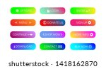set of gradient action button... | Shutterstock .eps vector #1418162870